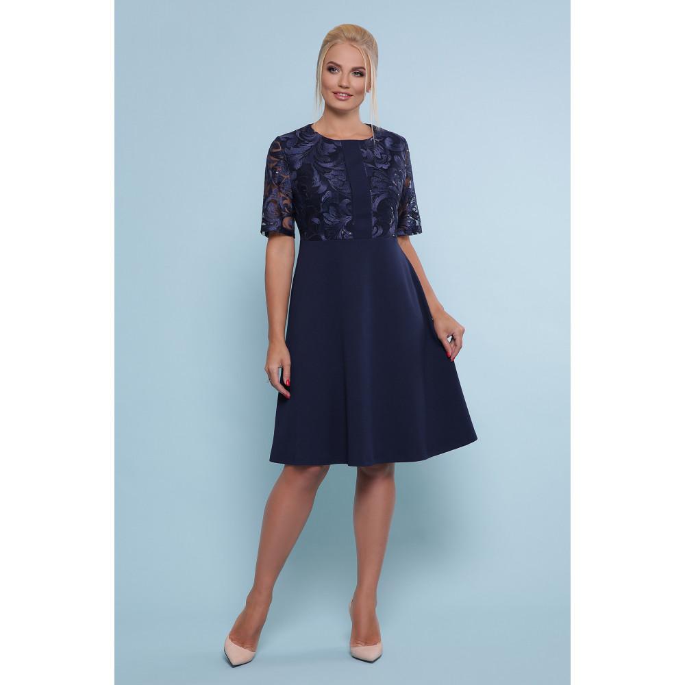 Коктейльное синее платье Герда фото 4