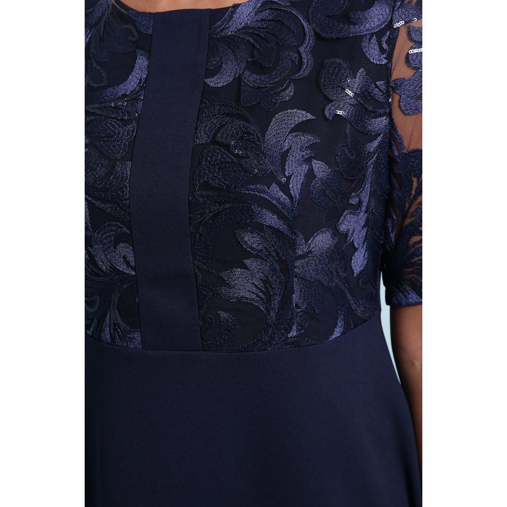 Коктейльное синее платье Герда фото 5