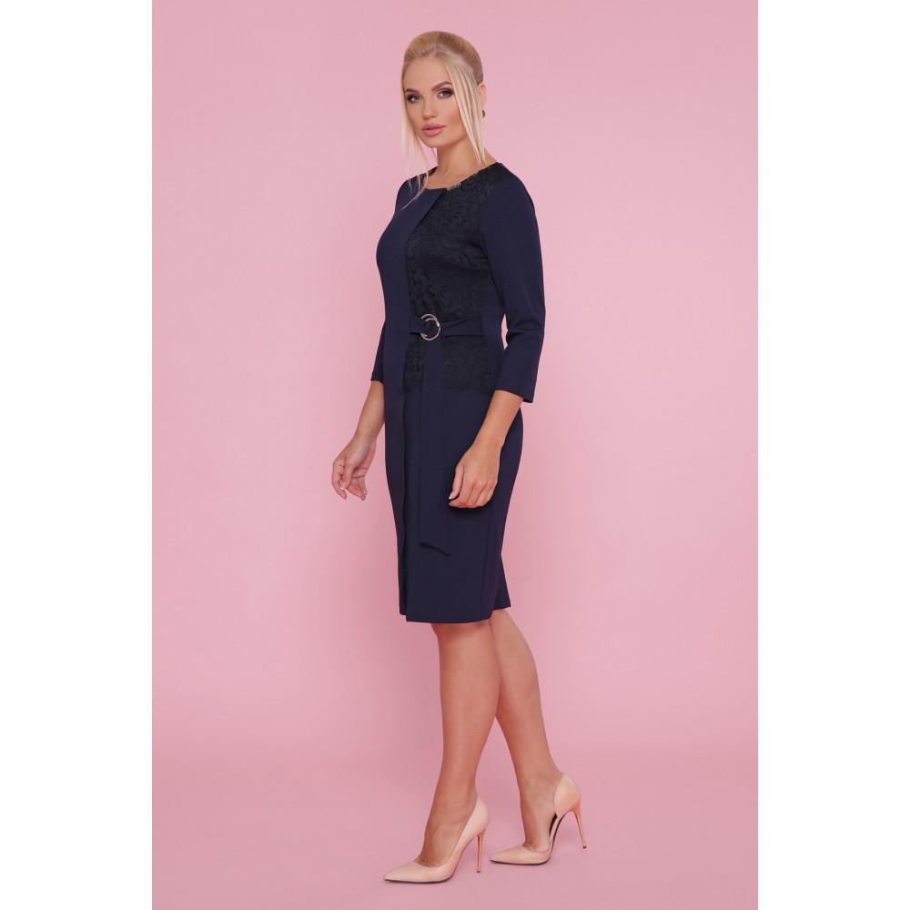 Красивое синее платье Делия фото 2