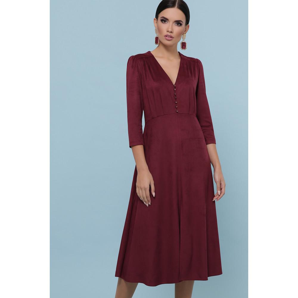 Бордовое платье с пуговками Ариадна фото 1