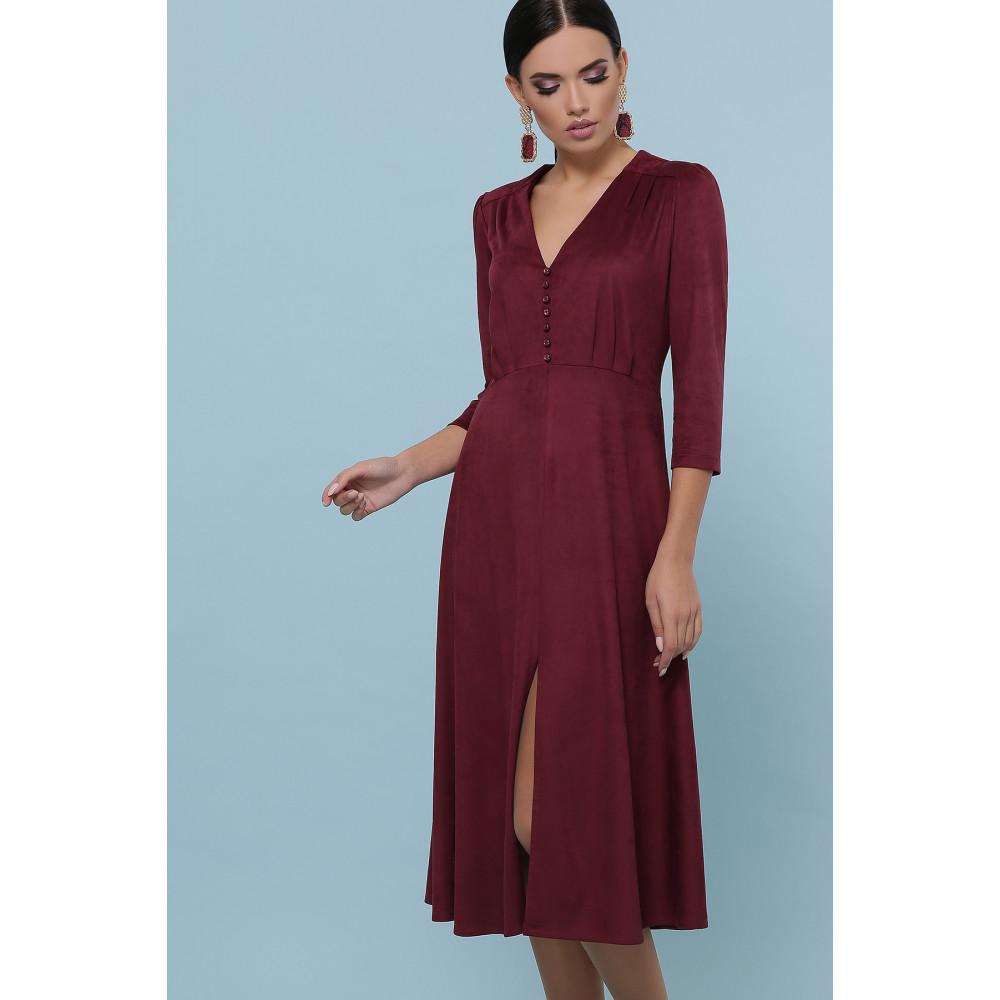 Бордовое платье с пуговками Ариадна фото 2