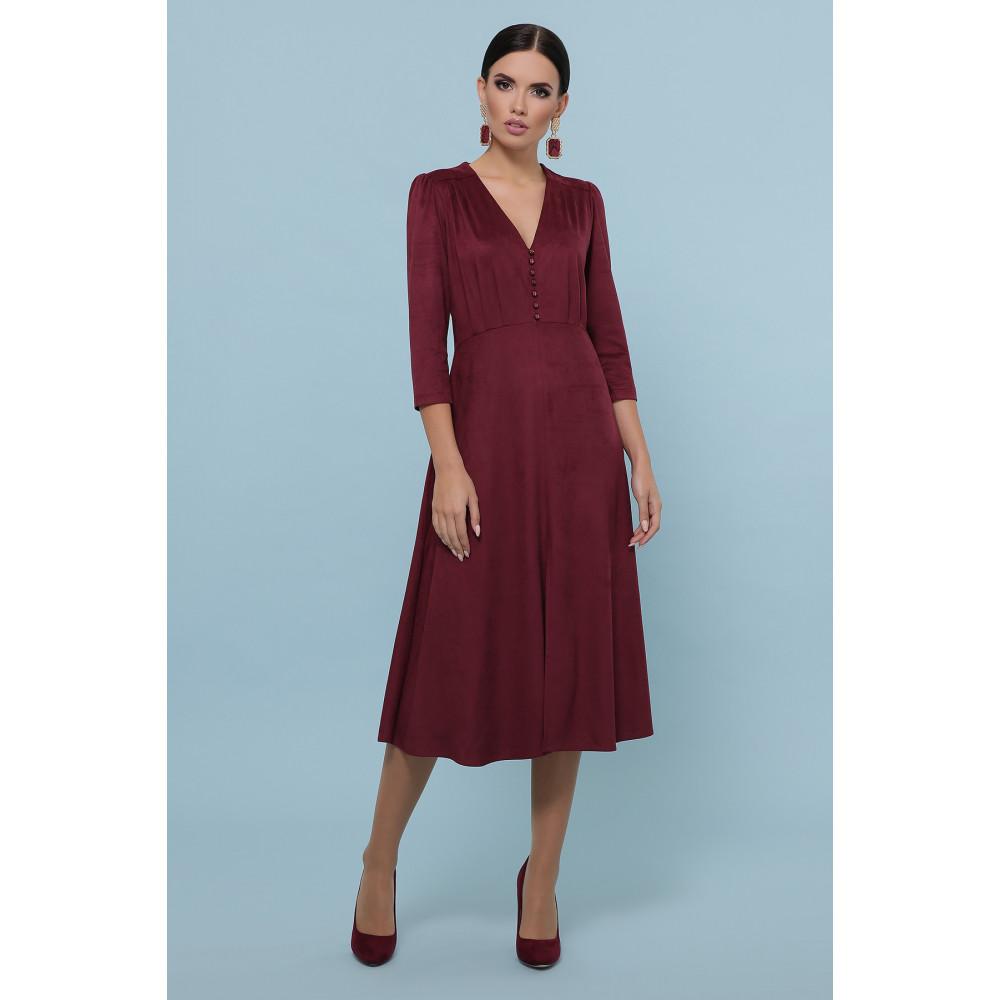Бордовое платье с пуговками Ариадна фото 3
