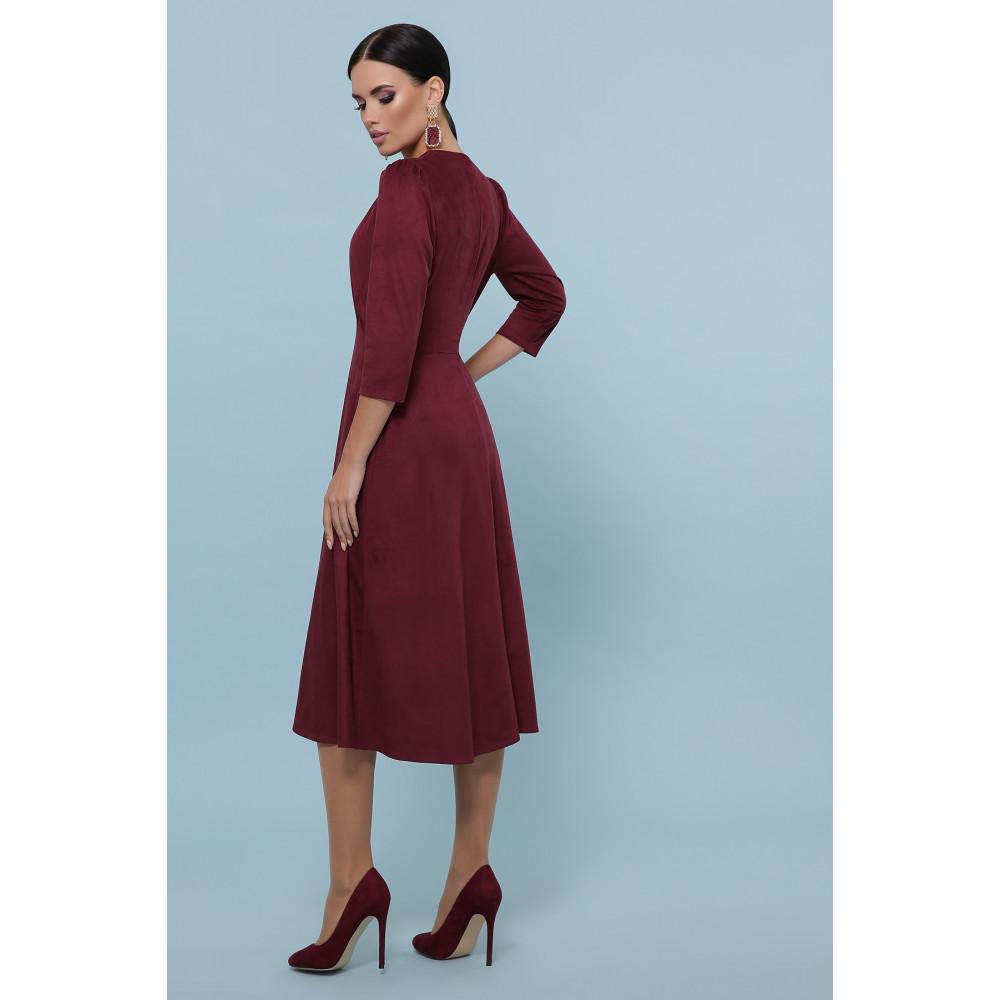 Бордовое платье с пуговками Ариадна фото 4