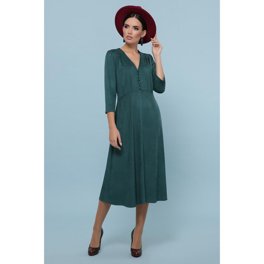 Изумрудное платье с пуговками Ариадна фото 1
