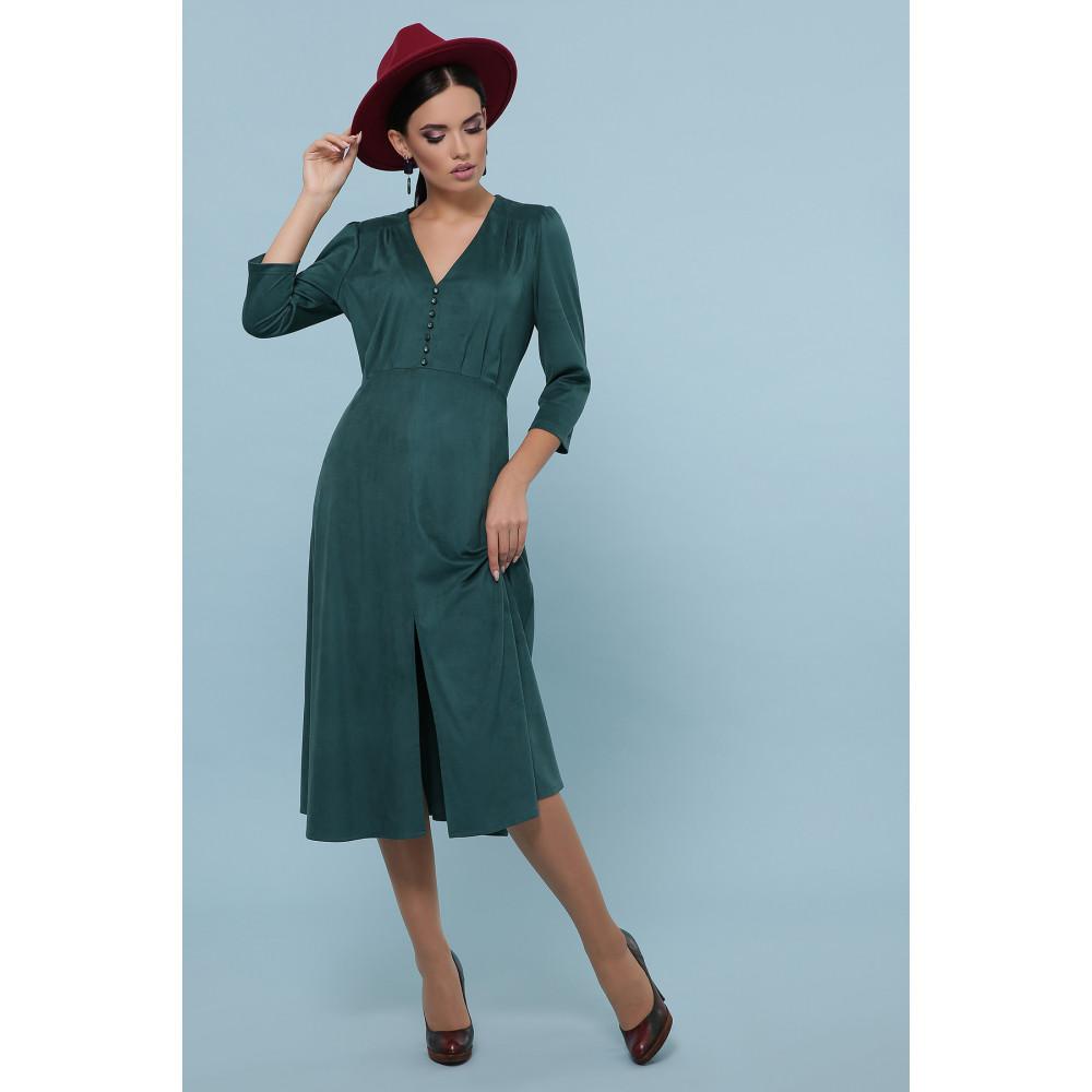 Изумрудное платье с пуговками Ариадна фото 2