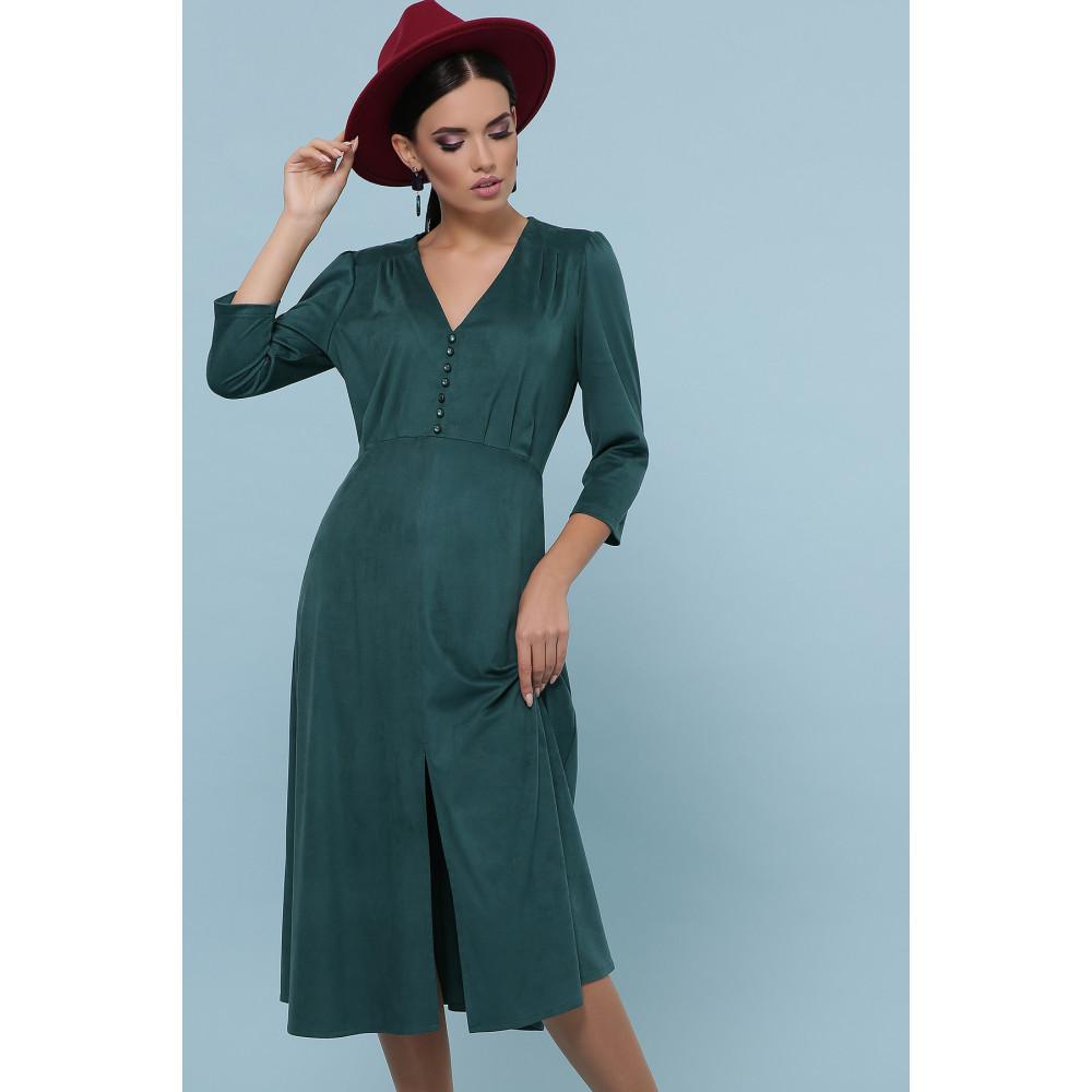 Изумрудное платье с пуговками Ариадна фото 3