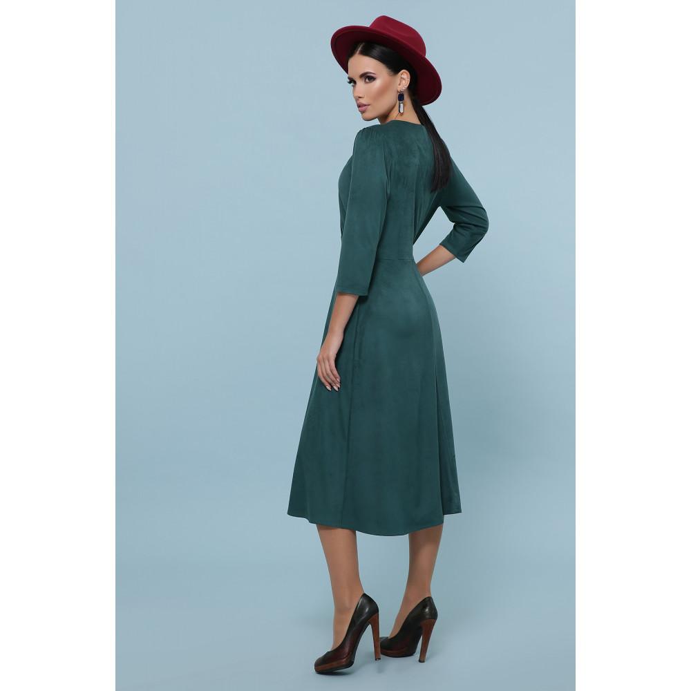 Изумрудное платье с пуговками Ариадна фото 4