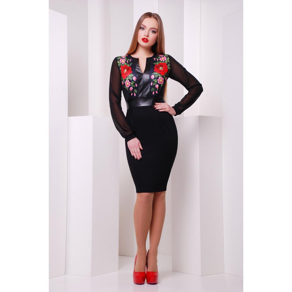 Красивое платье в маки Лусена фото 1