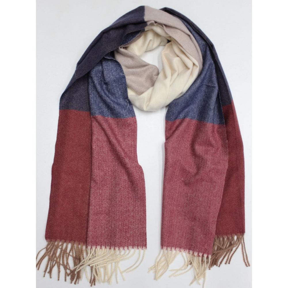 Кашемировый теплый шарф в мелкий принт фото 1