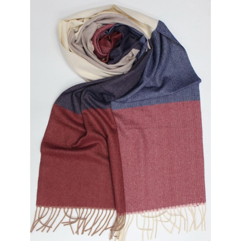 Кашемировый теплый шарф в мелкий принт фото 2