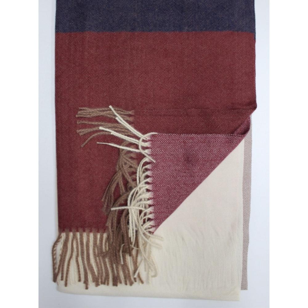 Кашемировый теплый шарф в мелкий принт фото 3
