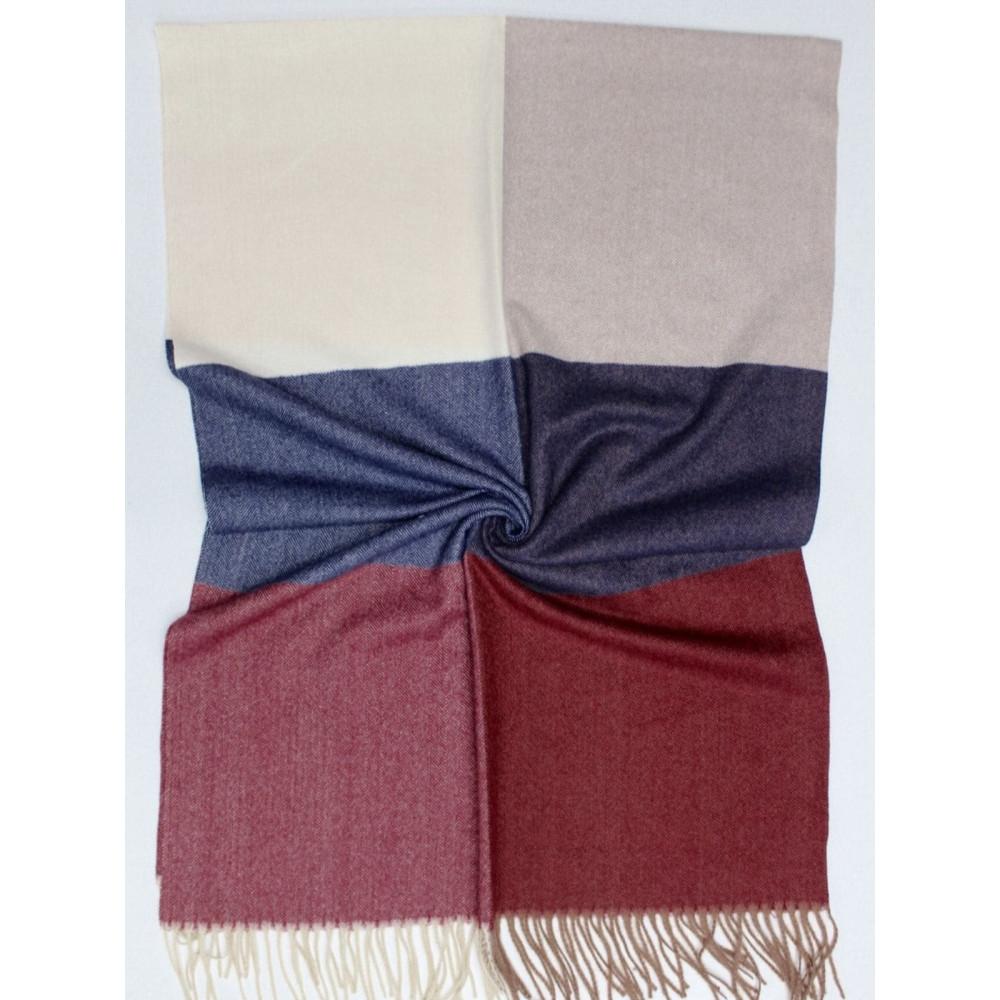 Кашемировый теплый шарф в мелкий принт фото 4