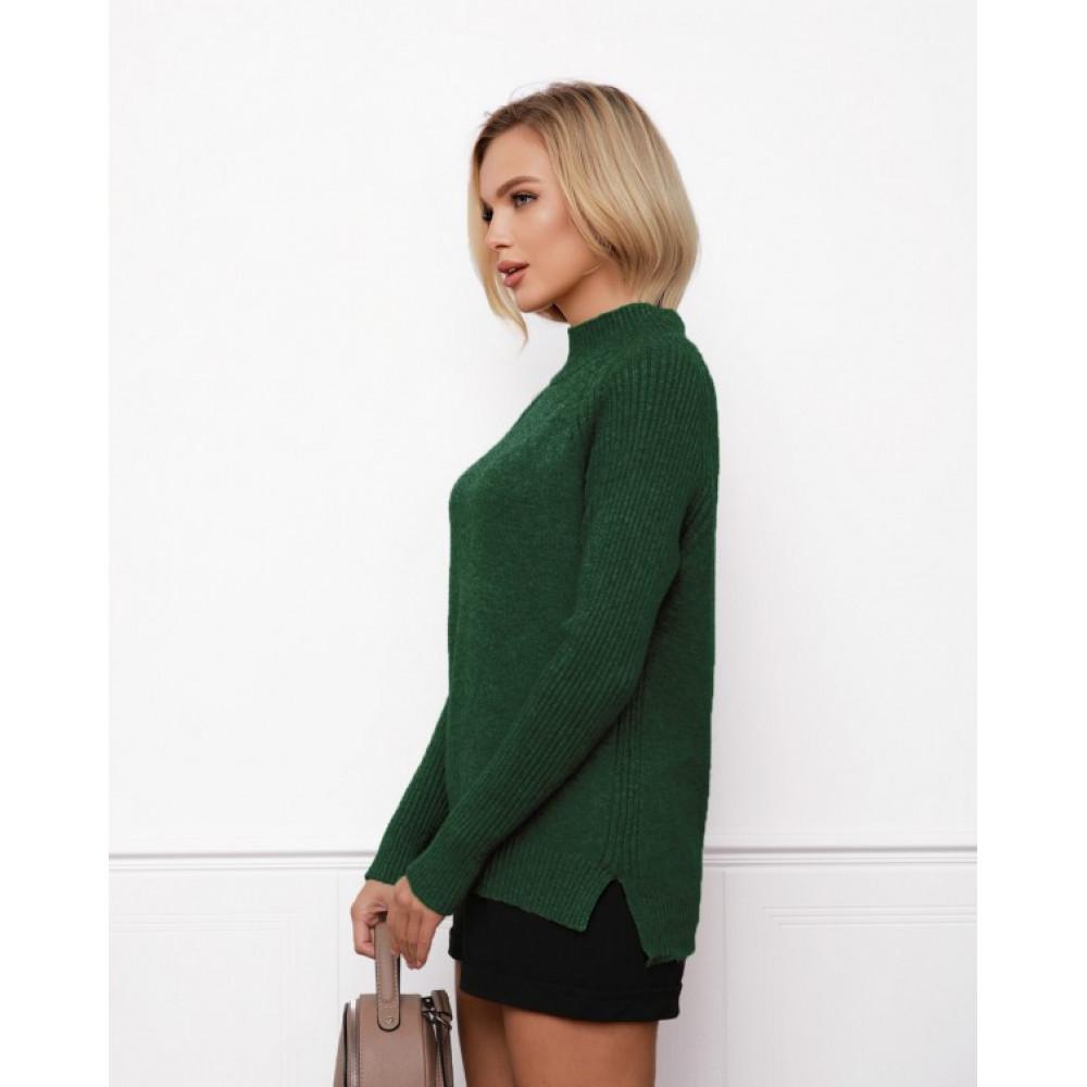 Зеленый свитер прямого кроя Кэрри фото 2