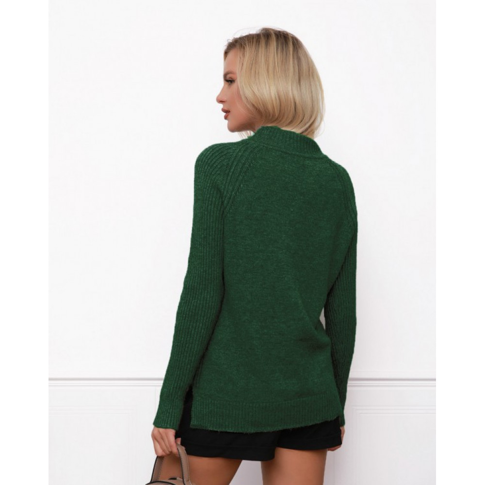 Зеленый свитер прямого кроя Кэрри фото 3