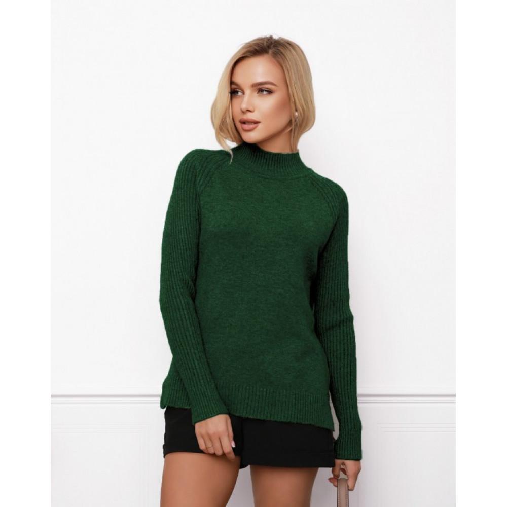 Зеленый свитер прямого кроя Кэрри фото 1