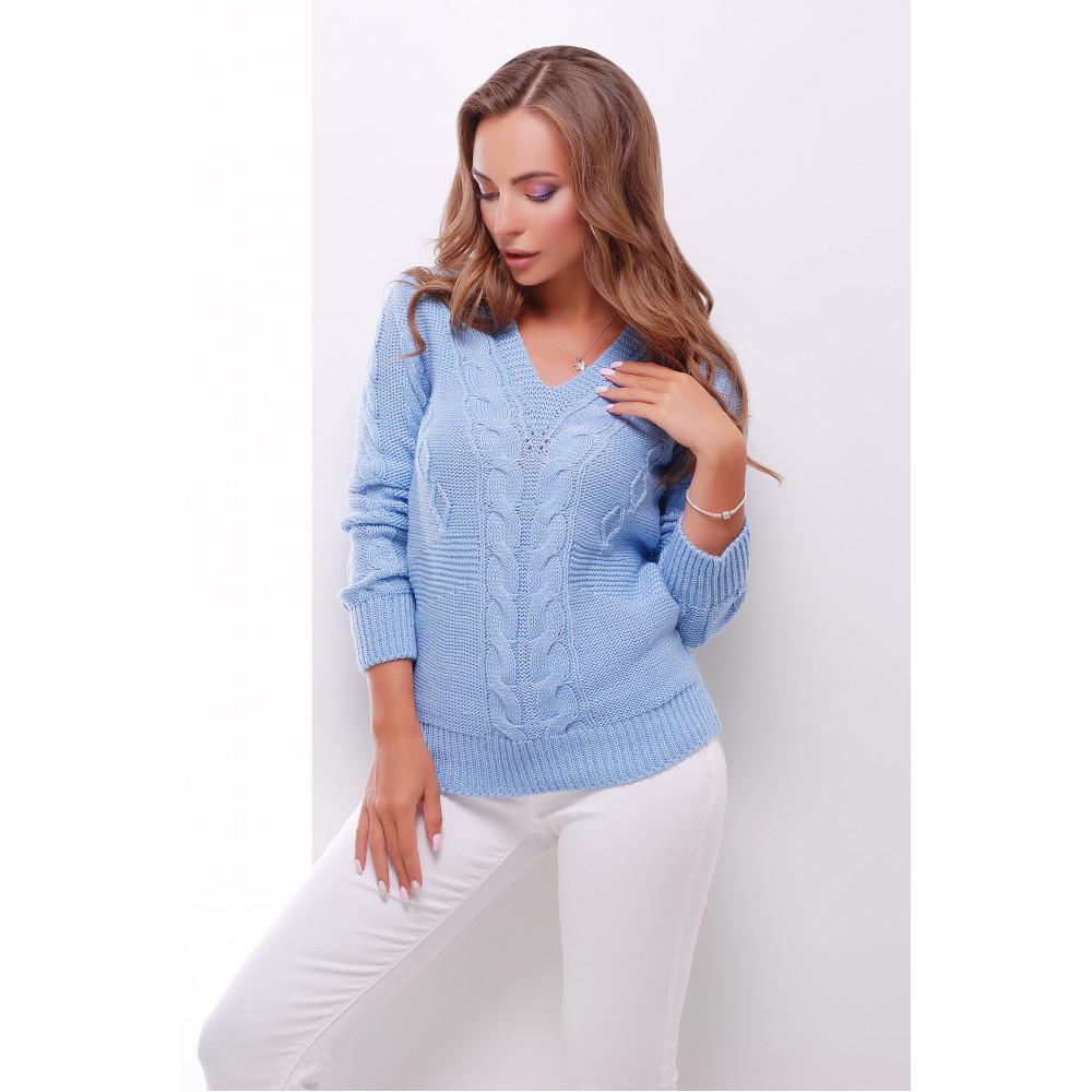 Красивый голубой джемпер фото 1