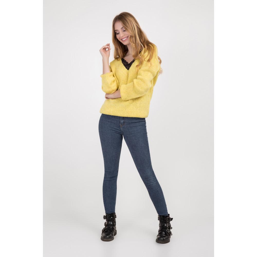 Золотисто-желтый молодежный джемпер фото 1