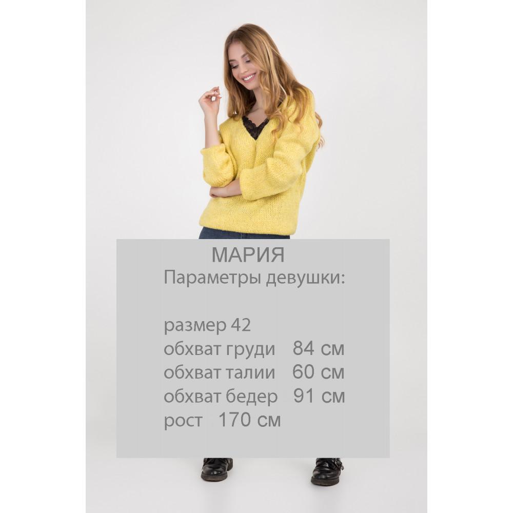 Золотисто-желтый молодежный джемпер фото 2