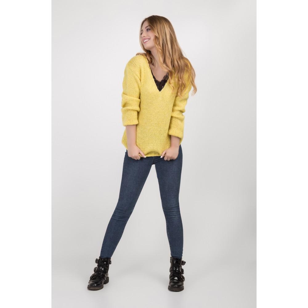 Золотисто-желтый молодежный джемпер фото 3