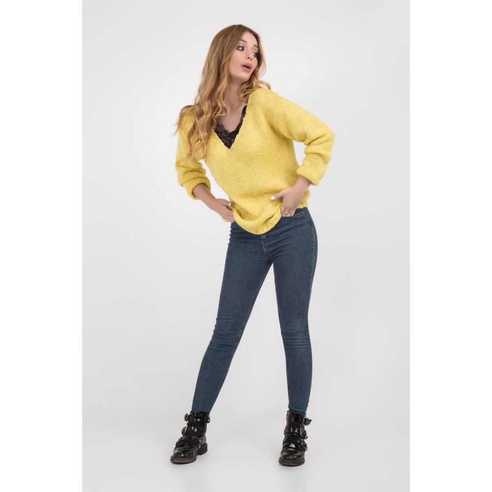 Золотисто-желтый молодежный джемпер фото 4