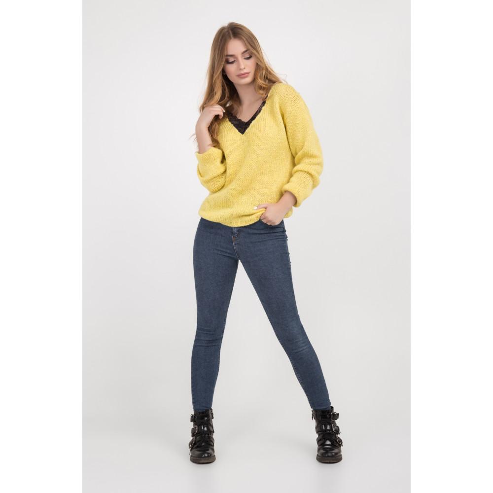 Золотисто-желтый молодежный джемпер фото 5