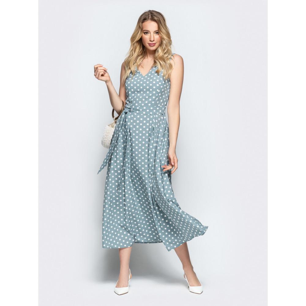 Женственное платье в горошек Фенди фото 1