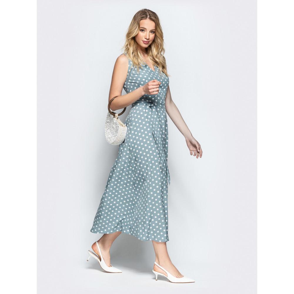 Женственное платье в горошек Фенди фото 2