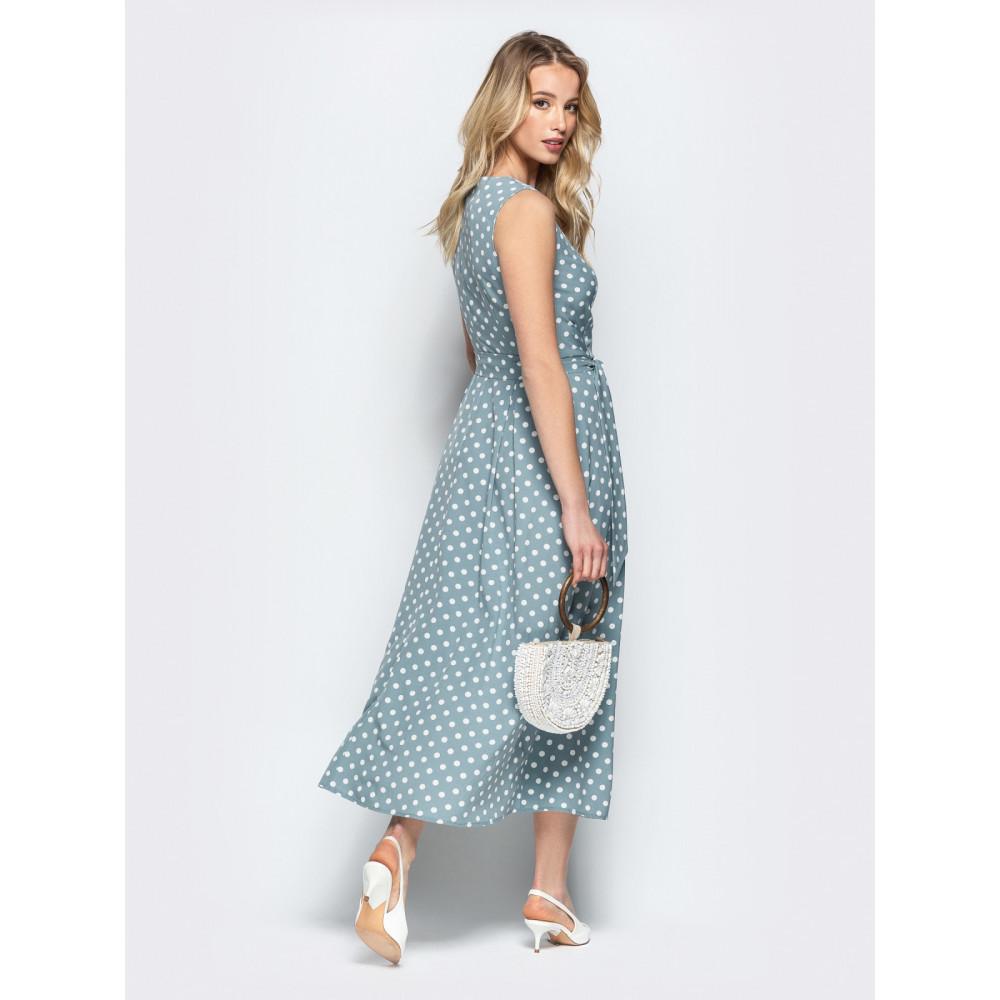 Женственное платье в горошек Фенди фото 3