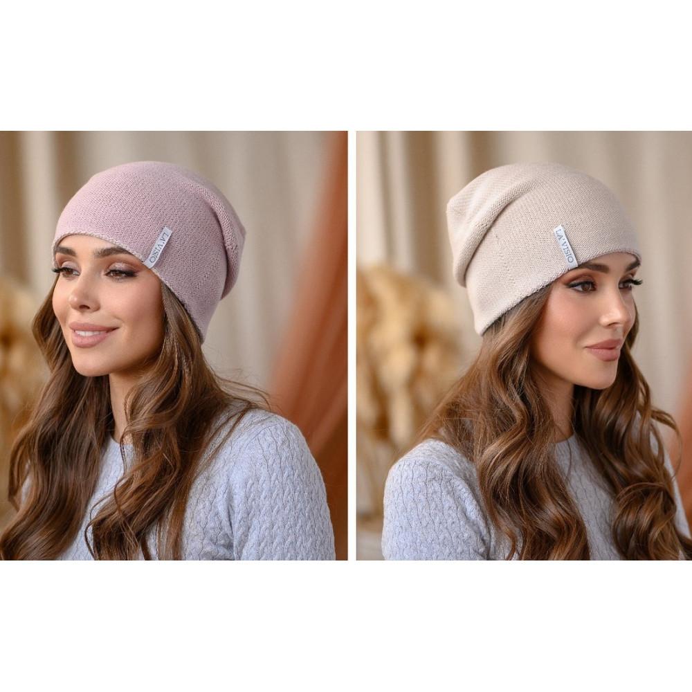 Женская двухсторонняя шапка Тандем фото 1