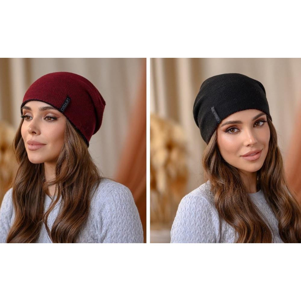 Двухсторонняя женская шапка Тандем фото 1