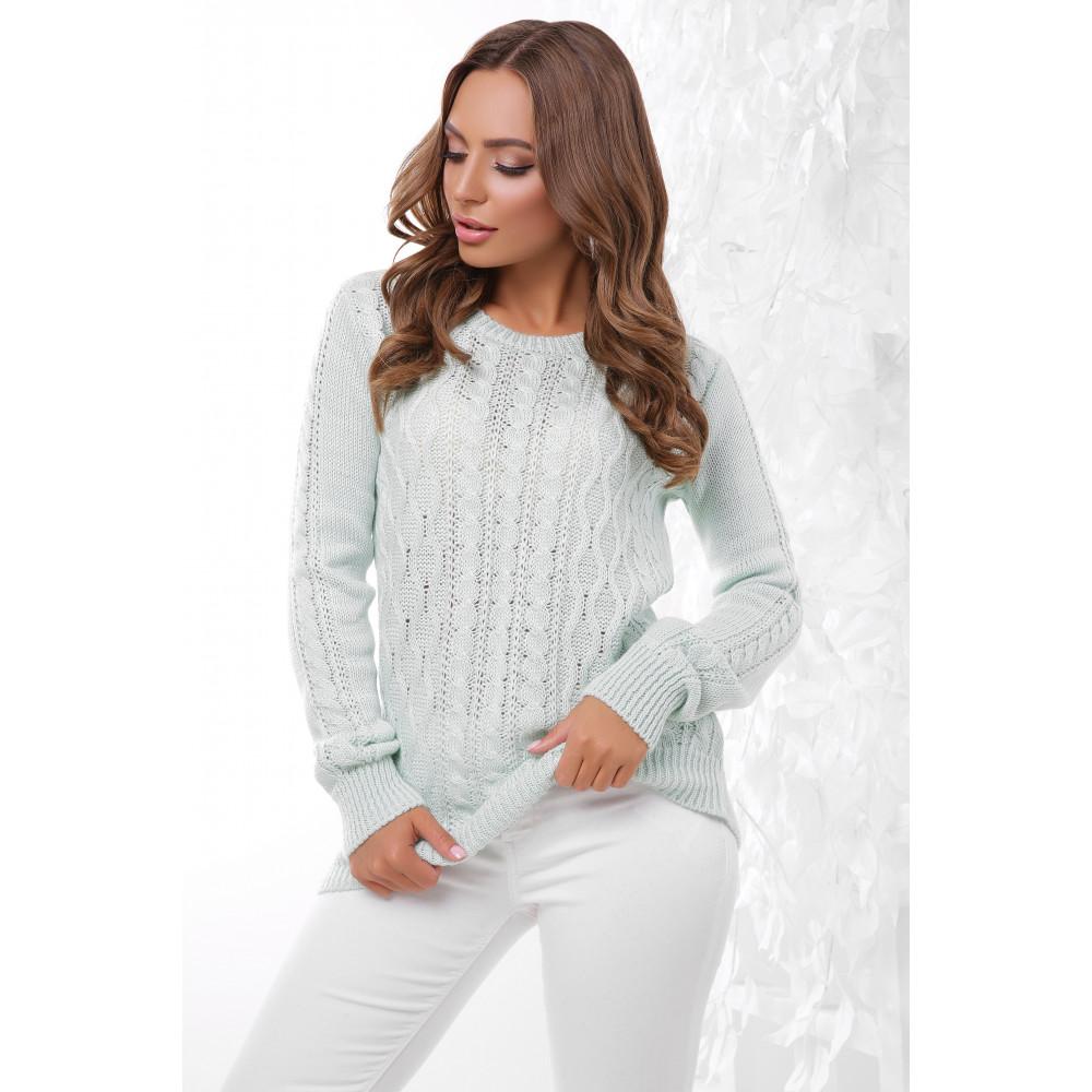 Женственный свитер с узорами фото 1