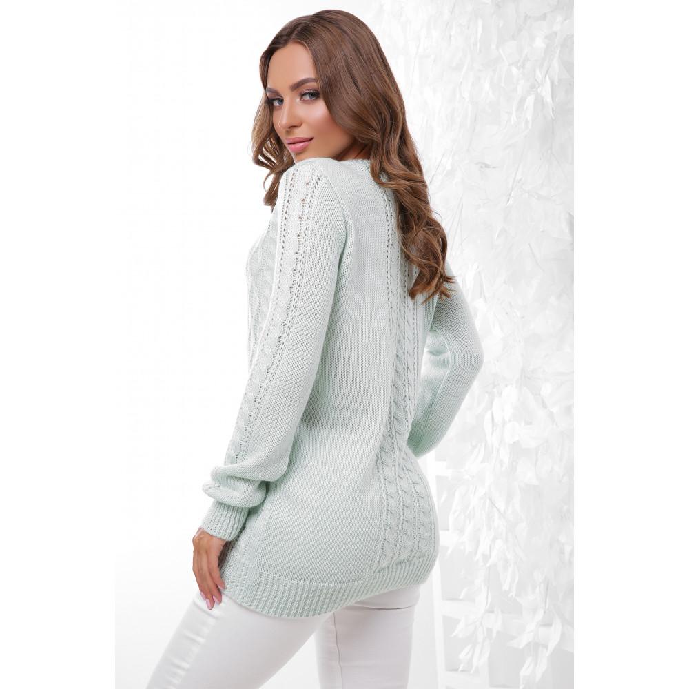 Женственный свитер с узорами фото 2