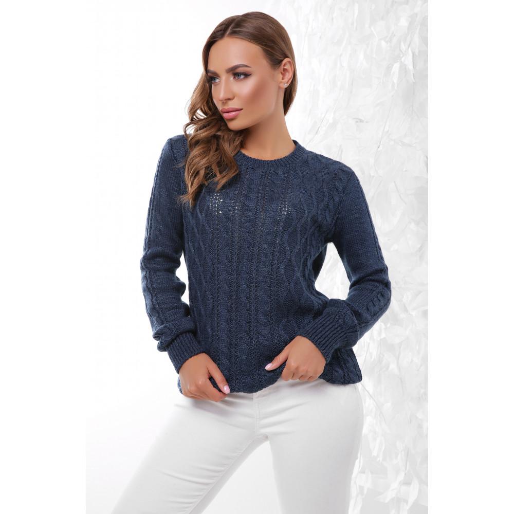 Женственный свитер с аранами фото 1