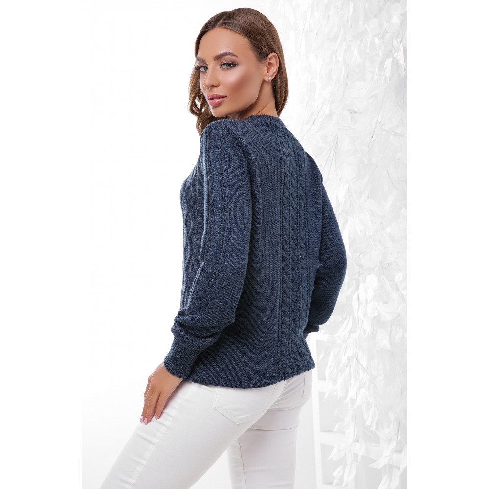 Женственный свитер с аранами фото 2