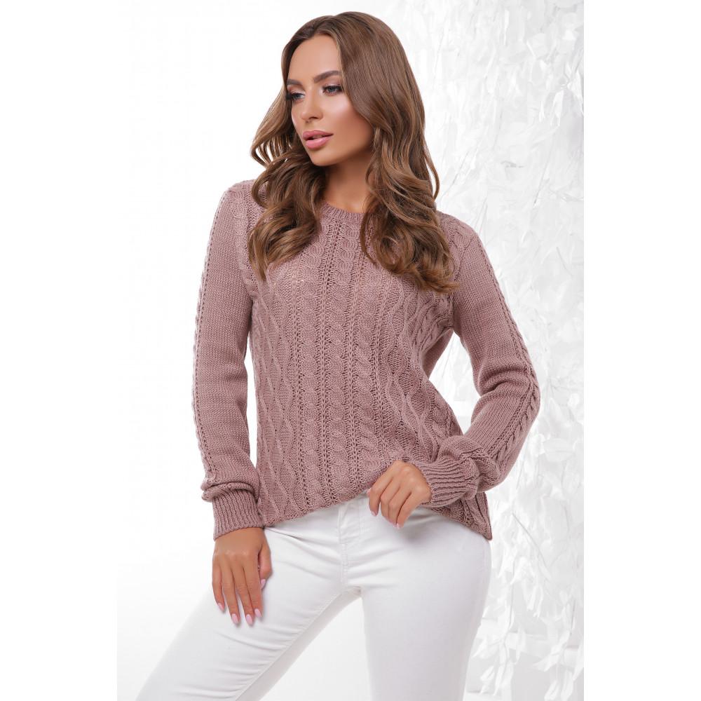 Женственный свитер с узором араны фото 1