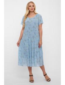 Нежное голубое платье из шифона Катаисс