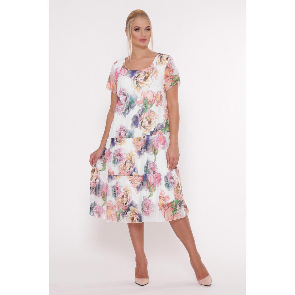 Белое платье с принтом Катаисс фото 1
