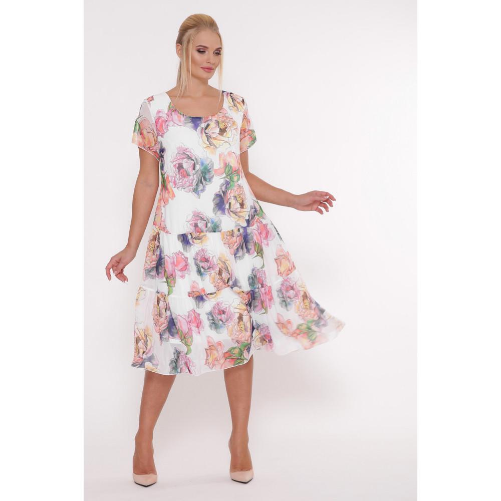 Белое платье с принтом Катаисс фото 4