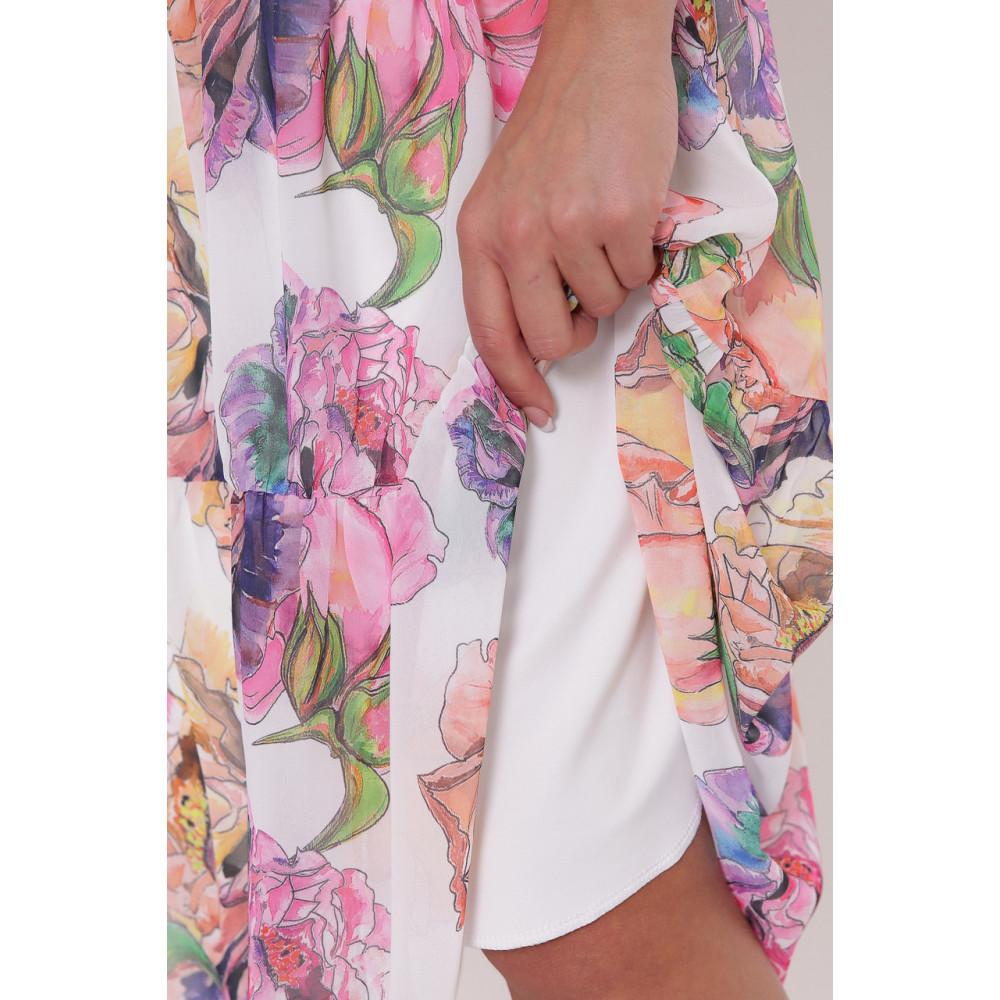 Белое платье с принтом Катаисс фото 6