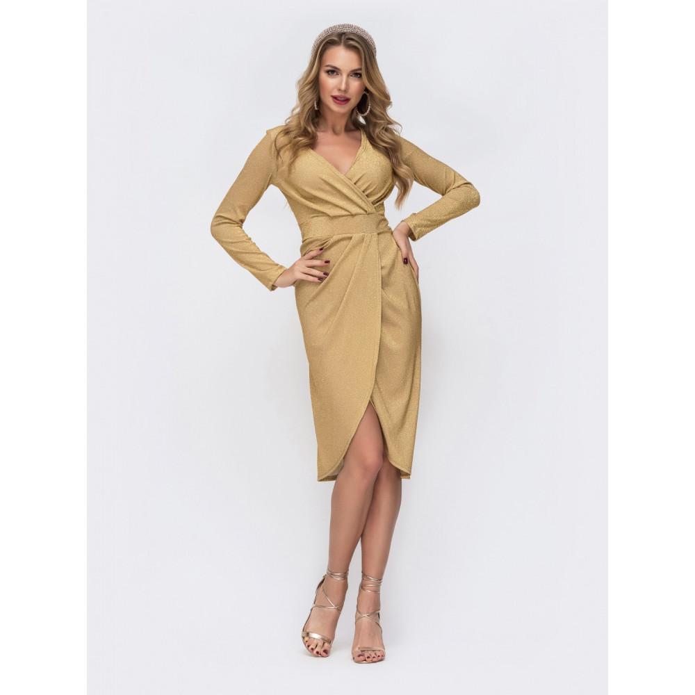 Золотистое платье Фелиция фото 1