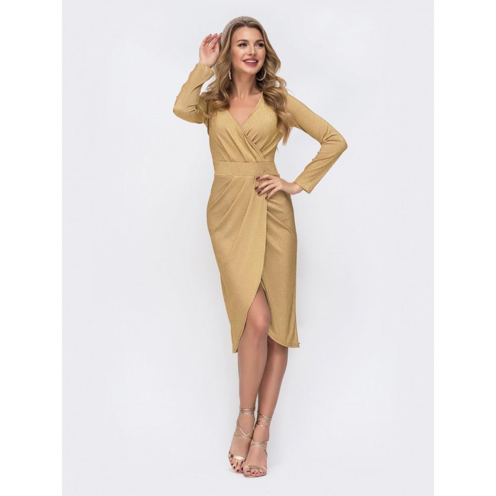 Золотистое платье Фелиция фото 2
