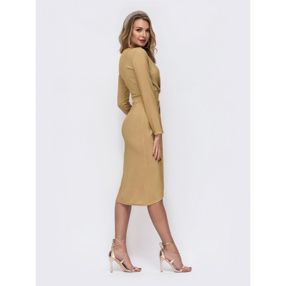 Золотистое платье Фелиция фото 3