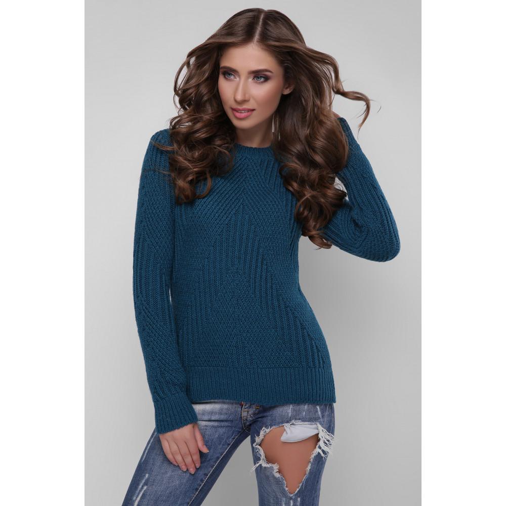 Симпатичний бірюзовий светр Мері фото 1