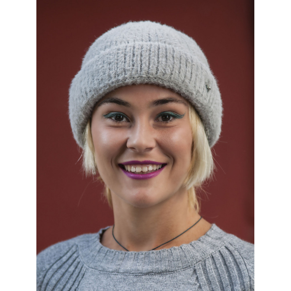 Женская серая шапка Маргарита фото 1