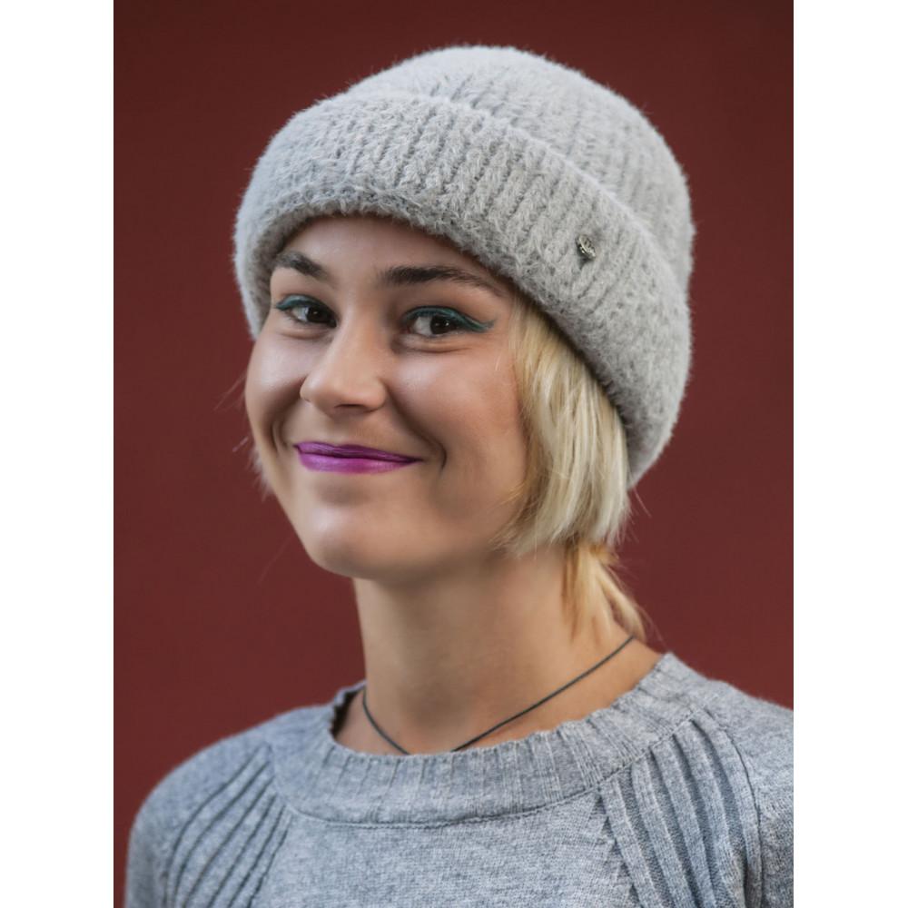 Женская серая шапка Маргарита фото 2