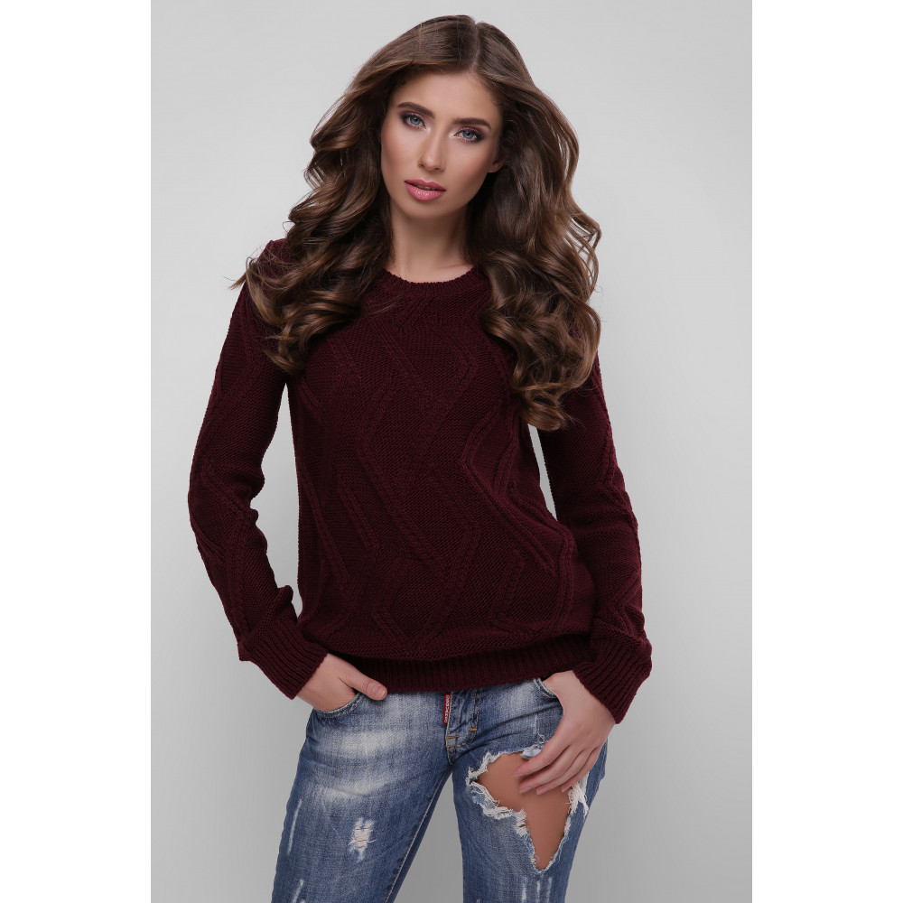 Красивый удлиненный вязаный свитер Лада фото 1