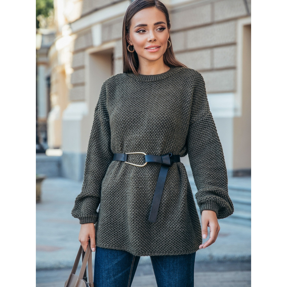 Зеленый свободный свитер Янина фото 1