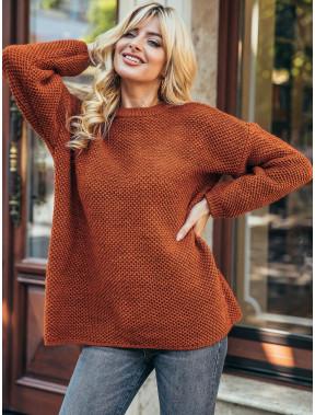 Вільний теракотовий светр Яніна