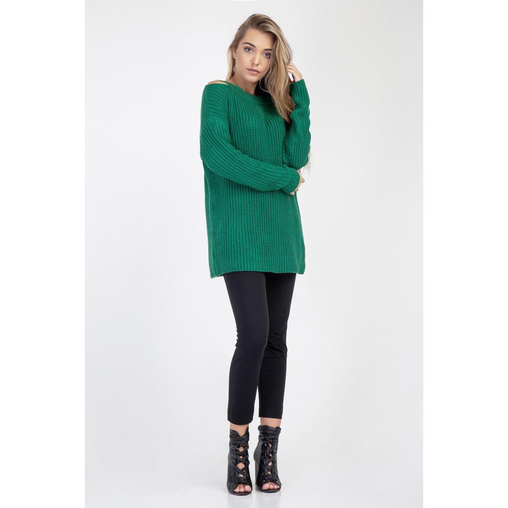 Молодежный зеленый джемпер Лара фото 1