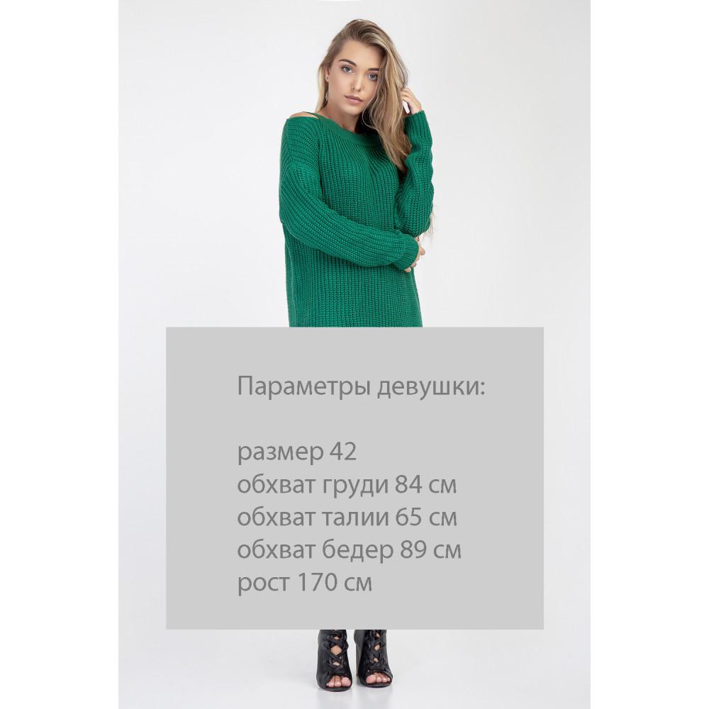 Молодежный зеленый джемпер Лара фото 2